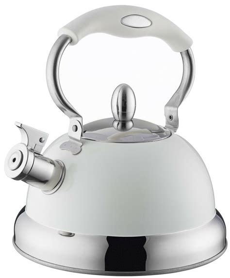 kettle stove cream induction typhoon whistling retro colours heat stainless steel living pastel resistant touch soft coating ounce fluid capacity