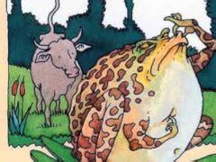 La grenouille qui se veut faire aussi grosse que le bœuf — wikipédia