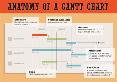 project management essential gantt chart infographic