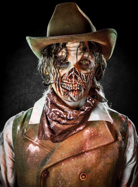 halloween schminktipp cowboy zombie maskworldcom