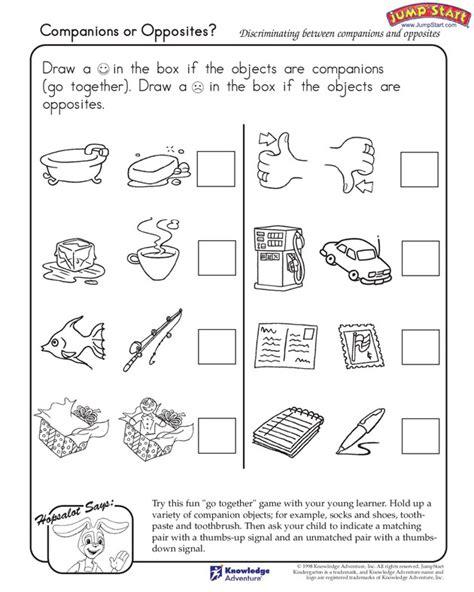 opposites worksheet kindergarten worksheets for all