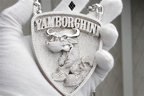 gold and white lamborghini yamborghini chain for asap ferg made by if and co