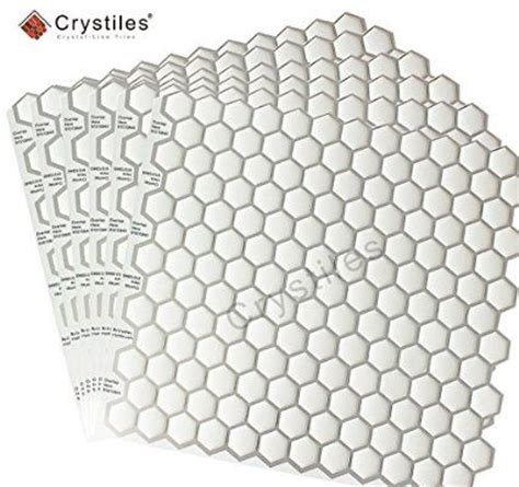 smart tiles peel and stick hexagon crystiles 174 peel and stick self adhesive vinyl wall tiles