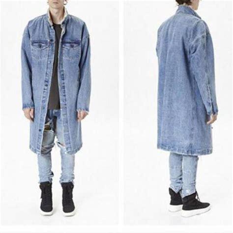 New Top Qualtiy Long Cool Denim Jacket Wool Liner Men ...