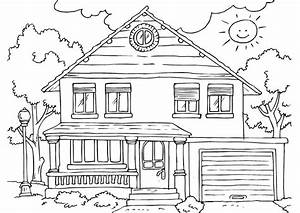 Little People Wohnhaus : free printable house coloring pages for kids ~ Lizthompson.info Haus und Dekorationen