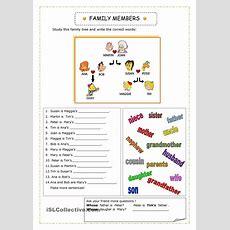 English 4 Kids Connect Level 2 (family Vocabulary Worksheet