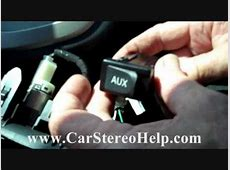 How to Toyota Matrix Aux Jack Repair 2009 2013 replace
