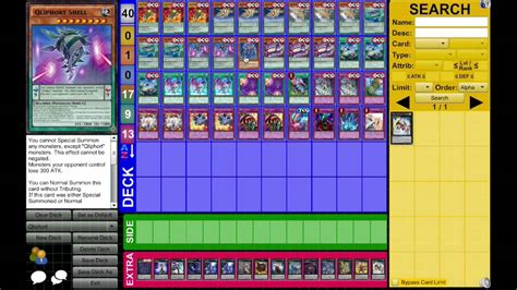 deck list qliphort dueling network september 2014