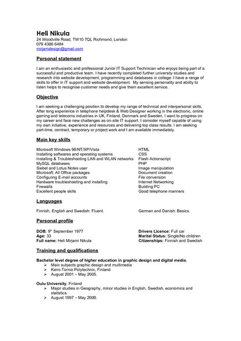 Personal Statement For Resume by Personal Branding Statement Resume Exles Resume Ideas