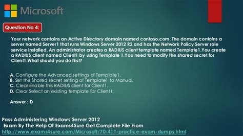 administering windows server  study material