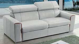 canape lit rapido en cuir avec matelas 18 cm verysofa renoir With canapé lit lampolet