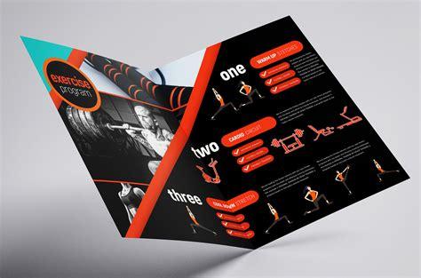 gym fitness brochure template  psd ai vector
