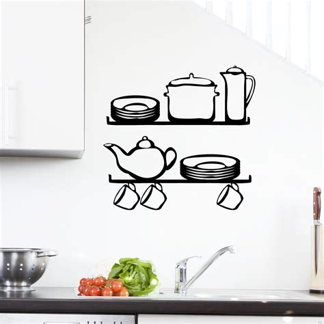 stickers pour cuisine stickers muraux pour la cuisine sticker étagère 2