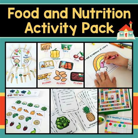 how to teach healthy with a preschool nutrition theme 217 | Food and Nutrition Activity Pack Cover 1000x1000