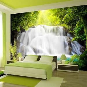 Poster Mural 3d : fototapeta do sypialni wodospad ~ Teatrodelosmanantiales.com Idées de Décoration