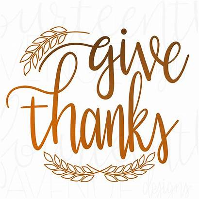 Thanks Clipart Giving Give Svg Hand Calligraphy