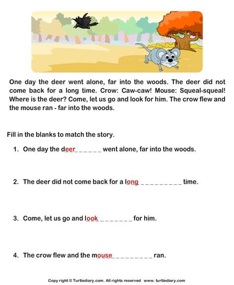 reading comprehension stories worksheet 38 turtle diary