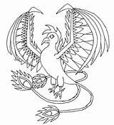 Mythical Creatures Coloring Phoenix Dibujos Mythological Bird Criaturas Deviantart Colorear Adult Printable Drawing Drawings Unicorn Animal Ficcion Fantasia Dragon Wonderful sketch template
