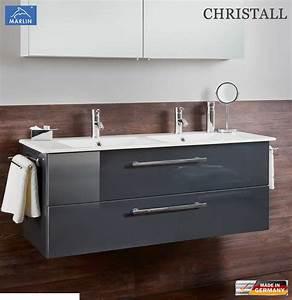 Waschtischunterschrank 120 Cm : marlin christall waschtischunterschrank set 120 cm mit keramik doppelwaschtisch impuls home ~ Indierocktalk.com Haus und Dekorationen