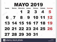 Calendario 2019 Stock Photos & Calendario 2019 Stock
