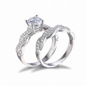 jewelrypalace 15ct cz wedding bridal sets ring solid 925 With silver wedding sets rings