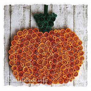 Basteln Im Herbst : basteln im herbst mit kindern quilling k rbis fensterbild oder wandbild ~ Markanthonyermac.com Haus und Dekorationen