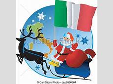 Merry christmas, italy! eps vector Search Clip Art