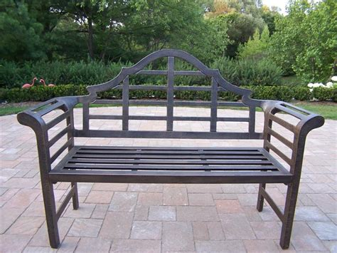 metal outdoor bench choosing maintaining and decorating