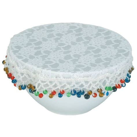 d馮lacer cuisine beaded bowl cover lace protects your food ebay