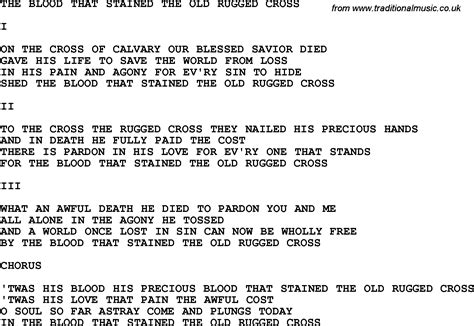 rugged cross lyrics gospel song the rugged cross roselawnlutheran