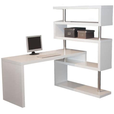 desk with bookcase attached l shape desk matt white
