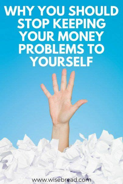 Why You Should Stop Keeping Your Money Problems to ...