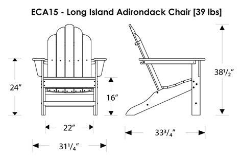 polywood island adirondack chair