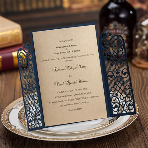 new Laser Cut Wedding Party Custom Invitations Engagement