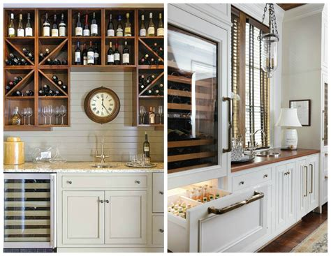 bar dans une cuisine storing wine in a home wine cellar