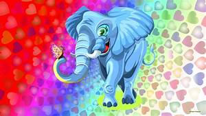 Colorful elephant wallpaper - Barbaras HD Wallpapers