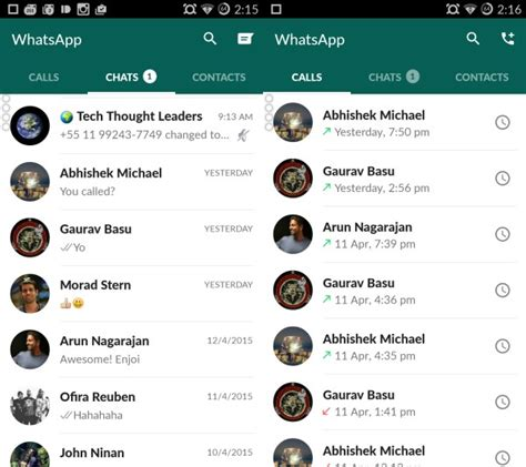 whatsapp design whatsapp for android ui receives material design overhaul ubergizmo