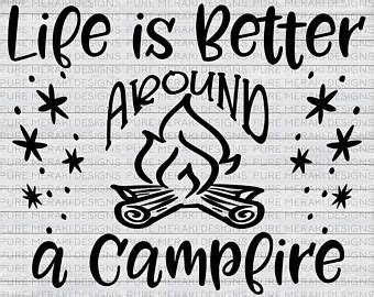 They are both on the same download, so simply ungroup them after you upload them in cricut design space. Image result for Free Camping SVG Files for Cricut ...