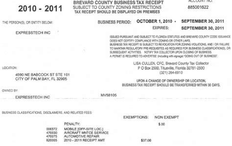 business tax brevard county business tax receipt