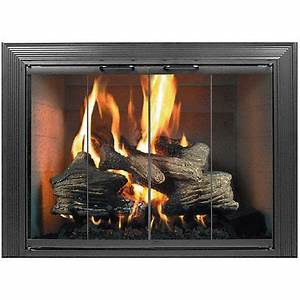 best 25 fireplace glass doors ideas on pinterest With kitchen cabinets lowes with plow and hearth wall art