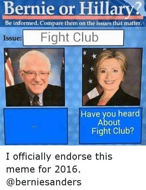 Bernie Hillary Memes - funny bernie vs hillary memes of 2017 on sizzle