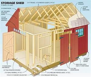 Storage Shed Plans Shed Blueprints