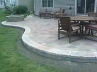 perfect patio design ideas concrete Paver Border Around Concrete Patio Home Design Ideas