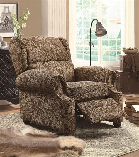 beige fabric reclining chair steal  sofa furniture