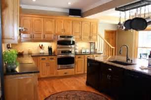 Kitchen Flooring Ideas with Oak Cabinets