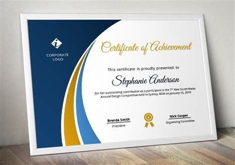 modern certificate template pptx stationery templates