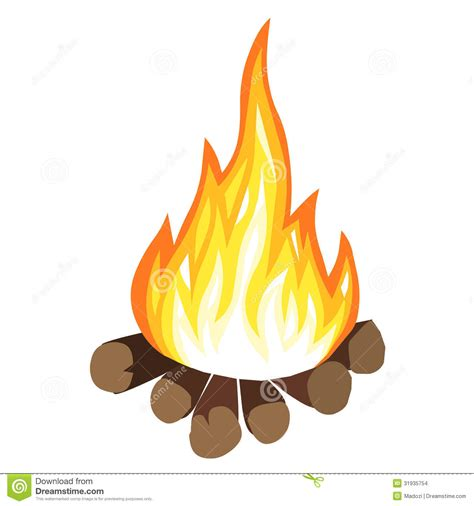 Campfire Stock Vector Illustration Of Firewood, Energy 31935754