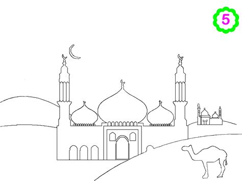 Coloring Mosque by Free Colouring Activities Colouring Mosque Muslimkids