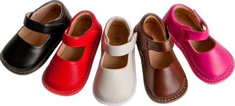 Toddler Shoes : Girls Leather Squeaky Mary Jane Shoes Solid Hot Pink Red