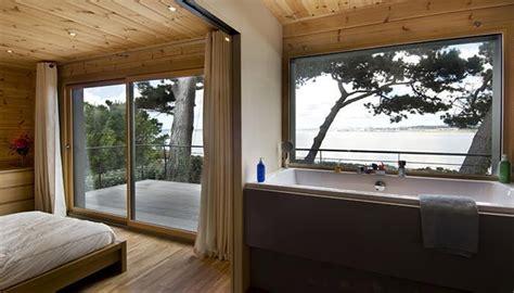 chambre bretonne maison en bois construite en bretagne au design intérieur